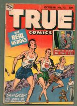 1948 golden age Comic book Lou Gehrig baseball TRUE 73 #284